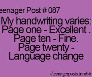 teenager post, funny, and handwriting image