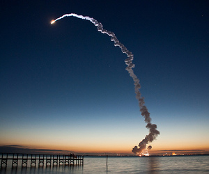 launch, space, and Space Shuttle image