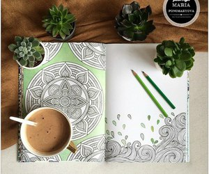boho, coffee, and drawing image