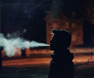 smoke, boy, and night image