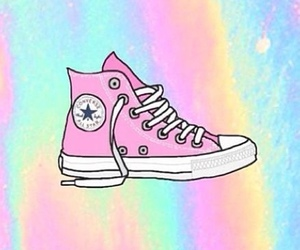 converse, wallpaper, and pink image