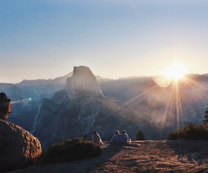 mountains, adventure, and sunrise image