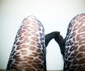 animal print, feet, and girl image