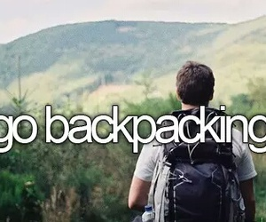 backpacking, Dream, and travel image