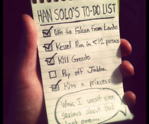 funny, geek, and han solo image