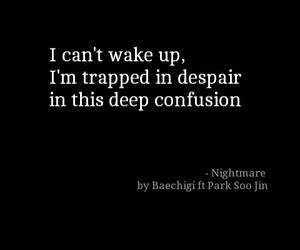 kpop, Lyrics, and nightmare image