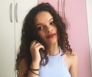 cabelo, curly hair, and curls image