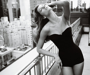 black and white, model, and city image