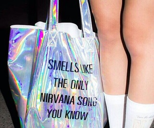 nirvana, grunge, and bag image