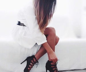 classy, grunge, and heels image