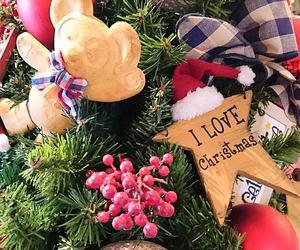 santa, tree, and christmas image