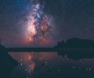 galaxy, night, and sky image