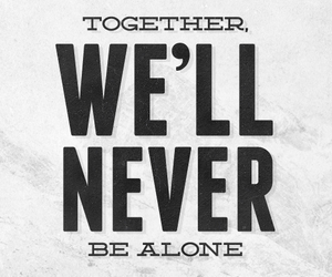 together and five words image