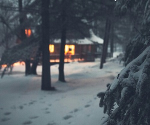 christmas, home, and snow image