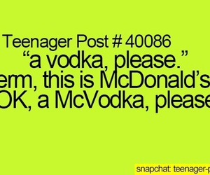 funny, teenager post, and vodka image