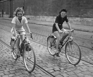 bicycle, 1940s, and bikes image