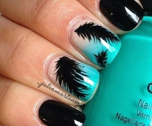 nails, black, and blue image