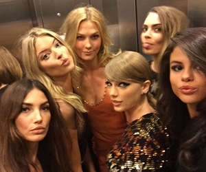 selena gomez, Taylor Swift, and Karlie Kloss image