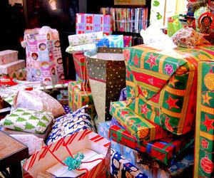 christmas, gifts, and green image