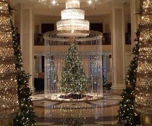beautiful, christmas tree, and decoration image
