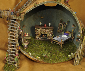 fairy house, home, and gourd image