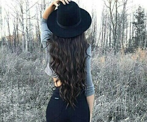 hair, style, and hat image