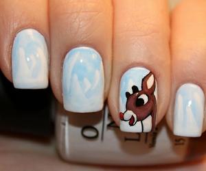 nails, christmas, and winter image