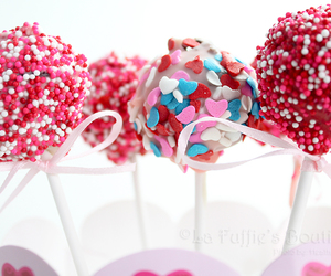 bouquet, pink, and sprinkles image