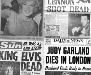 john lennon, judy garland, and dead image