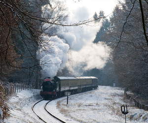 train, winter, and beautiful image