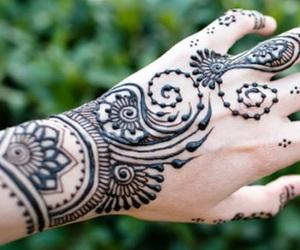 body art, henna, and mehndi image