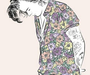 Harry Styles, one direction, and drawing image