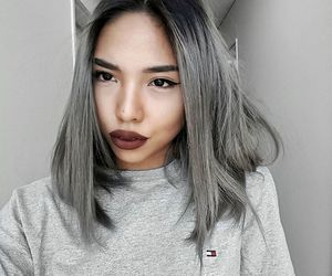 alternative, dyed hair, and grey hair image