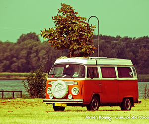 hippie, van, and bus image