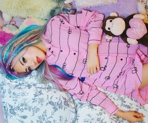 blue, colorful hair, and dyed hair image