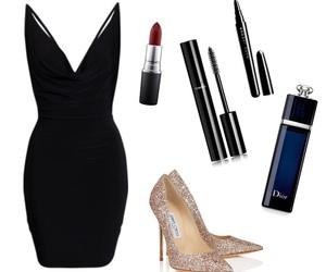 black, choo, and dress image
