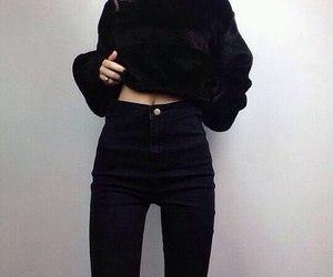 black and thin image
