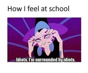 school, funny, and idiot image