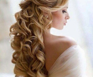 beautiful, Prom, and hairstyle image