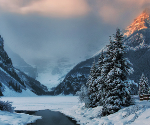 snow, winter, and canada image