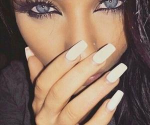 nails, eyes, and beauty image