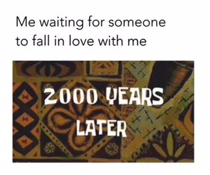 love, funny, and waiting image