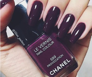 nails, chanel, and beauty image