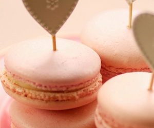 macaroons, pink, and love image