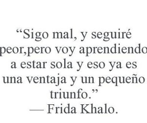 frase, triunfo, and Frida Khalo image