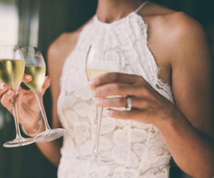 champagne, fashion, and drinks image