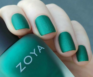 girly, green, and nail polish image