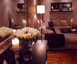 apartment, candles, and design image
