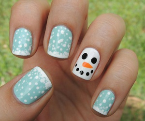 christmas, nails, and olaf image