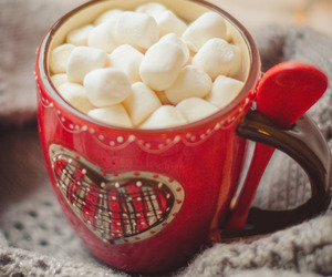 marshmallow, christmas, and winter image